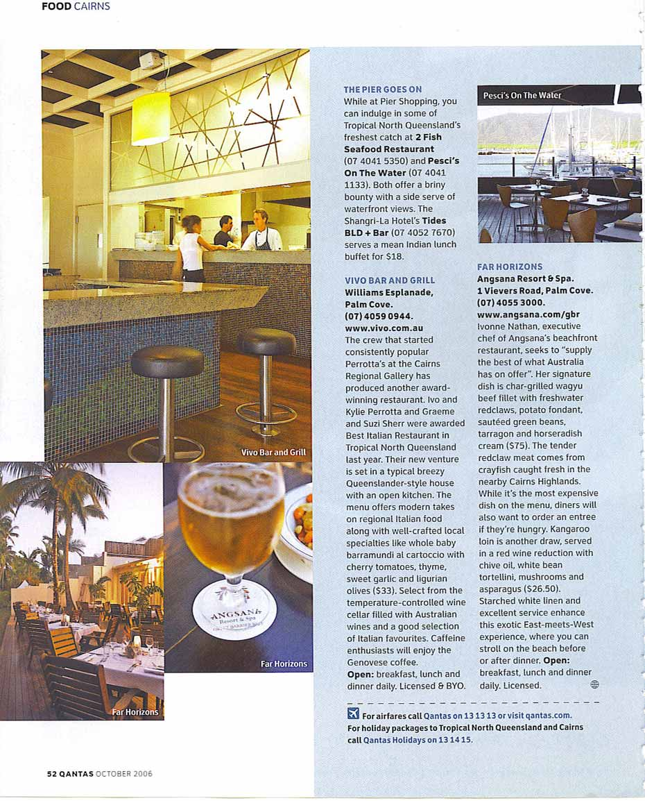 The vibe is laid-back, but the cuisine is right on the money: dining out in Cairns and Palm Cove.