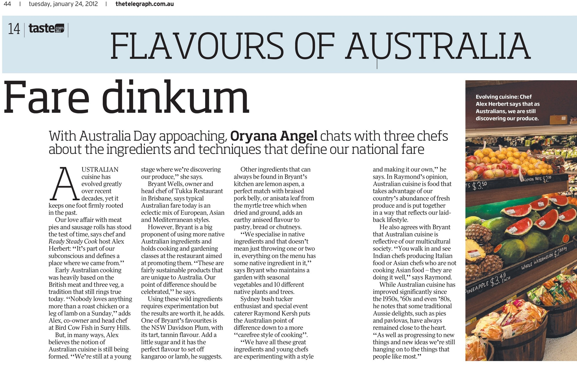 With Australia Day appoaching, Oryana Angel  about the ingredients and techniques that define our national fare